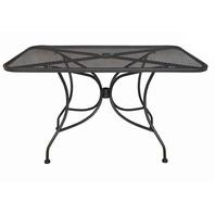 "Oak Street Rectangular Black Mesh Top Outdoor Table, 48"" Length X 30"" Width"