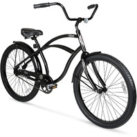 Hyper 26in Mens Beach Cruiser Easy To Use Pedal Backwards Coaster Braking Black
