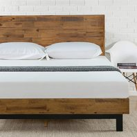 Full - Zinus Tricia Platform Bed Mattress Foundation Box Spring - Brown