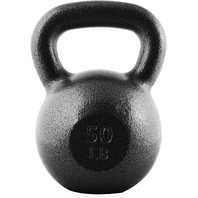 CAP Barbell Cast Iron Kettlebell, Black, 50 lb