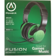 PowerA Fusion Wired Stereo Gaming Headset with Mic - Black Green