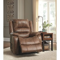Signature Design by Ashley Yandel Saddle Power Lift Recliner