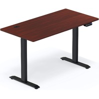 Shw Electric Height Adjustable Computer Desk, 55 X 28 Inches, Cherry
