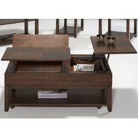 Progressive Furniture Daytona Double Lift Top Cocktail, Regal Walnut