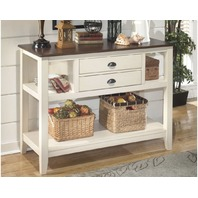 Whitesburg Dining Room Server 2 Drawers Vintage Casual Brown/Cottage White