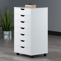 Winsome Halifax Cabinet For Closet/Office, 7 Drawers, White