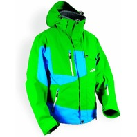 HMK Men's Peak 2 Jacket (Green/Blue, Medium)