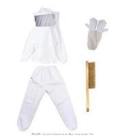 Beekeeping Suit, Jacket Veil & Gloves And (Missing)  Brush