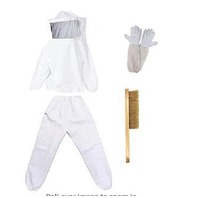 Beekeeping Suit, Jacket Veil & Gloves And Bee Hive Brush