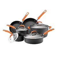Rachael Ray 10-Piece Cookware Set, Orange