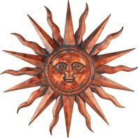 Regal Art &Gift Copper Patina Sun 40""