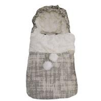 Peradi Baby Stroller Bunting Bag, Oblique Ivory