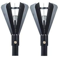 "Big Kahuna Gas Tiki Style Torch - Exotic Propane Gas Lamp 82"" Black Set Of 2"