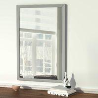 "Rectangular Wall Mirror 24"" X 36"" - Standard Trim, Nickel"