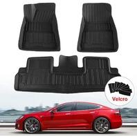 Floor Mats Set For Tesla Model 3 2017-2019,  Black