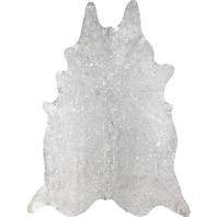 nuLOOM NKCHP08 Handmade Dorian Cowhide Shaped Rug, 5' x 7', Metallic Beige