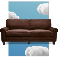 "Serta Uph100035 Copenhagen, 78"" Sofa, Windsor Brown"