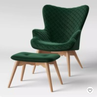 Ducon Modern Stitched Accent Chair with Ottoman Green - Project 62