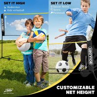 Boulder Portable Badminton Net Set - 16.5-Ft  For Indoor Or Outdoor