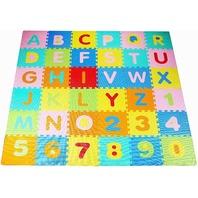 Kid's Puzzle Exercise Play Mat, Eva Foam Interlocking Tiles, Alphabet (36 Tiles)
