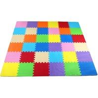 Kid's Puzzle Exercise Play Mat, Eva Foam Interlocking Tiles, 9 Colors (36 Tiles)