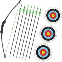 "Wolf Archery 45"" Youth Archery Bow And Arrow Set For Teens 18lb (Black)"
