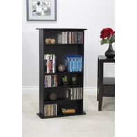 Atlantic Drawbridge Media Storage Cabinet  Store & Organize A Mix Of Media Black