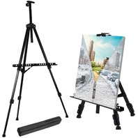"""T-Sign Reinforced Artist Easel Stand, 21"""" To 66"""" Adjustable With Portable Bag"""