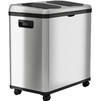 iTouchless - 16-Gal. Touchless Recycle Trash Can - Stainless Steel (READ)