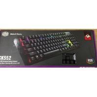 Cooler Master CK552 Wired Gaming  Keyboard  Back Lighting - Pure Black