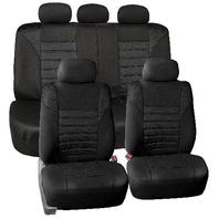 Universal Fit Airbag Compatible 3D Air Mesh Full Set Seat Covers, Black