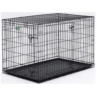 Midwest iCrate Double-Door Folding Metal Dog Crate, 42 x 28 x 30 Inches