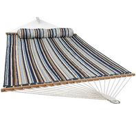 Sunnydaze Quilted Hammock Two Person 450 Pound Capacity, Ocean Isle