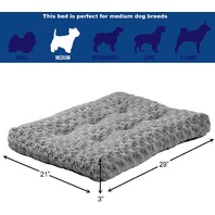 """Midwest Quiet Time Pet Bed Deluxe Gray Ombre Swirl 29"""" X 21"""""""