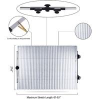 Dauntless Car Windshield Sun Shade, Retractable Uv And Heat Protector