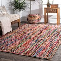 Nuloom Jute And Cotton 8' X 10' Rectangle Area Rugs In Multi 200MGNM05A-8010