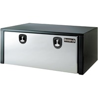 Buyers Products 1702710 Toolbox 18x18x48, Polished Stainless Steel Dr, Black