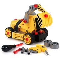 7-in-1 DIY Take Apart Truck Toy for, Construction Engineering Play Set