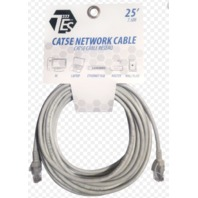 TES (25 Ft.) Cat5e Network Cable