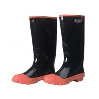 """Durawear® - 1500-15- 16"""" black knee rubber boot, Plain toe, Steel shank, Size-15"""