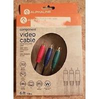 ALPHALINE Component Video Cable 6'
