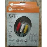 Alphaline Composite Av Kit 6 Foot