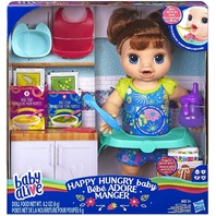 Hasbro E4895c90 Baby Alive Happy Hungry Baby Brown Straight Hair Doll