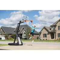 Spalding The Beast 54 Inch Glass Portable Basketball Hoop