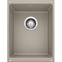 BLANCO 517676 Precis SILGRANIT Medium Undermount Kitchen Sink, Truffle