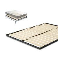 Zinus Deepak Easy Assembly Wood Slat 1.6 Inch Bunkie Board Bed King