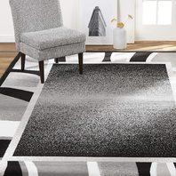 "Global Rug Design Loma LOM03 Black 9'2"" x 12'5"" Area Rug"