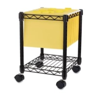 Lorell, Compact Mobile Wire Filing Cart, Black
