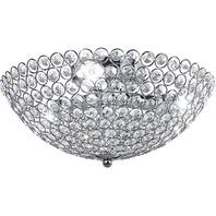 Diamond Life 3-Light Crystal Chandelier Flush Mount Ceiling Light