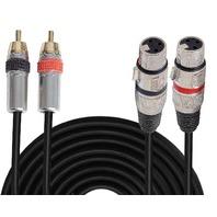 Rca To Xlr Audio Cord - Dual Rca Male To Xlr Female Connector